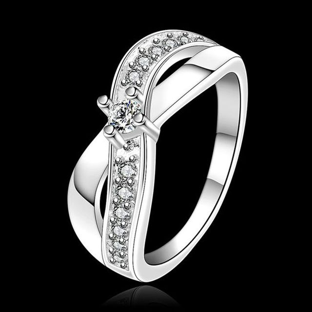 Wholesale 925 jewelry silver plated ring, silver plated fashion jewelry, inlaid