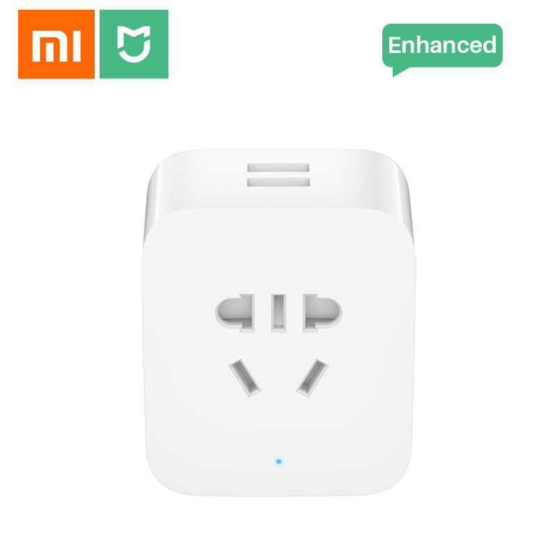 Xiaomi Mijia Smart wifi Socket Plug Enhanced Dual USB Fast Charger Timer Setting Electricity statistics Wireless APP Control