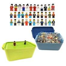 100 шт./лот строительные блоки город профессии цифры кирпичи развивающие DIY игрушки Совместимые Minifigure для детей подарок