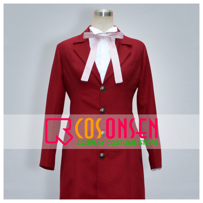 COSPLAYONSEN Black Butler Shinigami Grell Sutcliff Red Cosplay Costume All Size