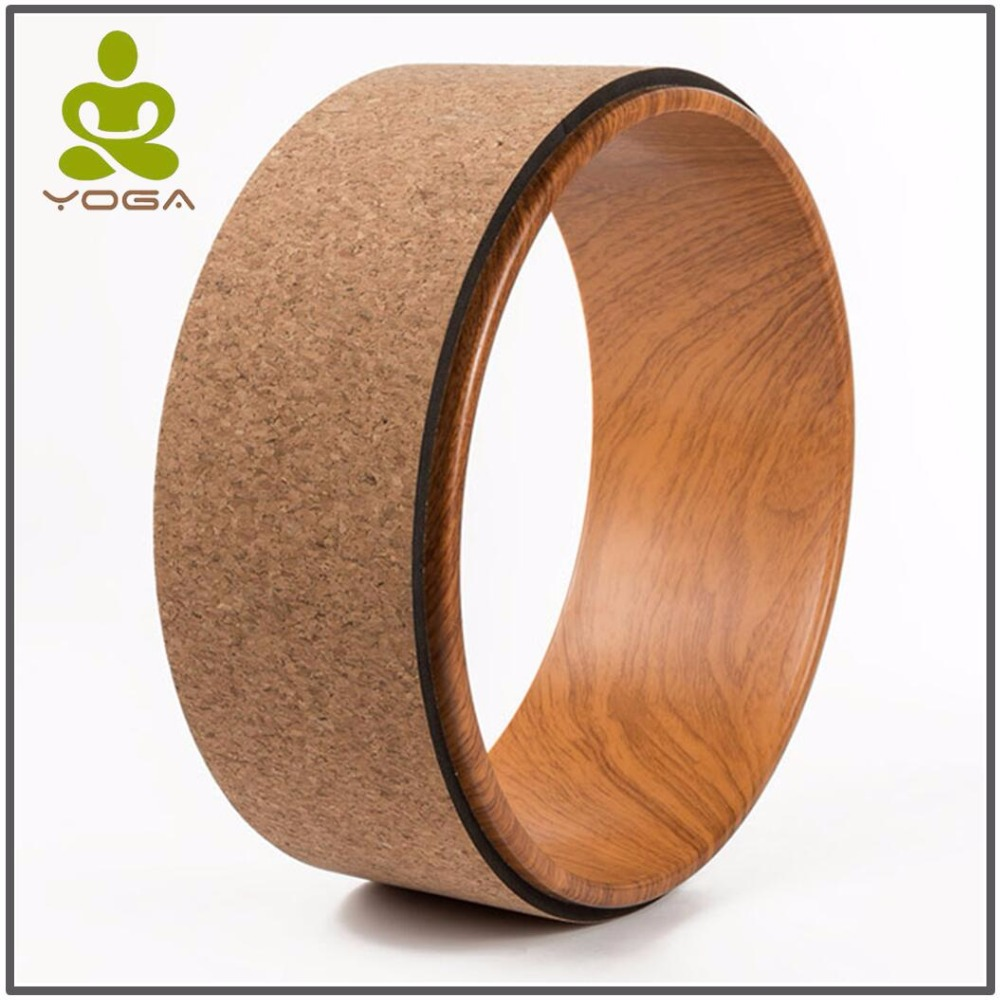 Wood Made Nation Yoga Circles Pilates Professional Waist Shape Bodybuilding Gym Workout Yoga Wheel Back Training Tool Fitness