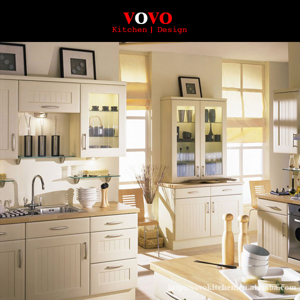 White Kitchen Cabinets Solid Wood With Wooden Countertop