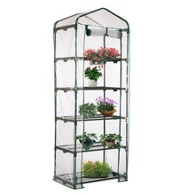 PVC Warm Garden Tier Mini Household Plant Greenhouse Cover Protect Plants Flowers Homes Garden Decoration (without Iron Stand)