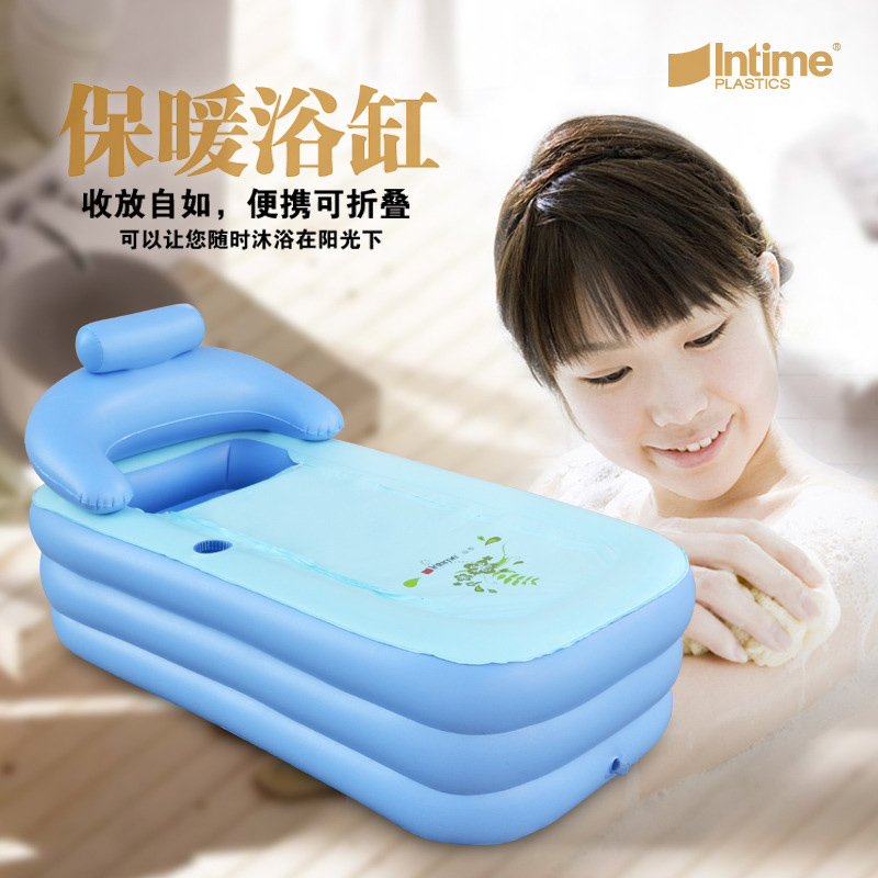 Adult Spa PVC Folding Portable Bathtub Inflatable Bath Tub With ...