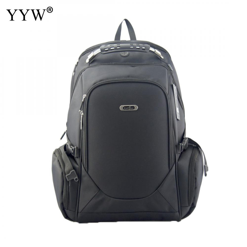Gray Men's Canvas Backpack Large Capacity Black Laptop Backpack Zipper Fashion Male Brpown Travel School Bag аксессуар чехол 17 0 overboard laptop sleeve large ob1074blk black