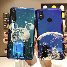 space planet silicon phone case for xiaomi mi 9 se A2 8 6X fashion blue ray patterned soft tpu back cover
