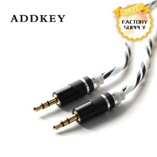ADDKEY Male To Male 1m Stereo Candy rainbow Colour 3.5mm Audio AUX Auxiliary Extension Cable for iPod PC MP3 DVD Headphone CAR