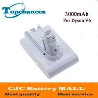 Hoge Kwaliteit 21.6V 3000mAh Li-Ion Vervangende Batterij Voor Dyson V6 DC58 DC59 DC61 DC62 Stofzuiger (Wit kleur)