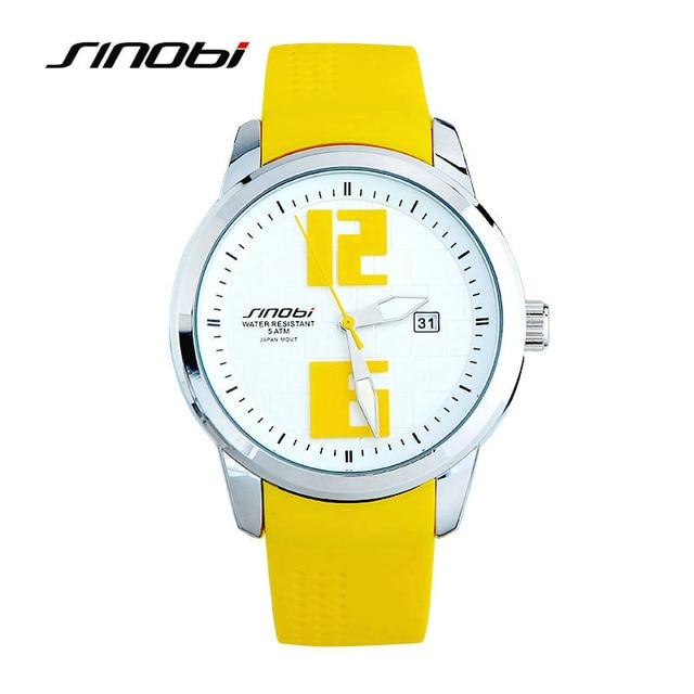 SINOBI Colorful Sport Watches Men Women Silicone Wristwatch for Woman Man Climbi