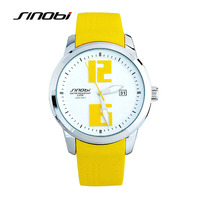 SINOBI Colorful Sport Watches Men Women Silicone Wristwatch For Woman Man Climbing Female Relojes Quartz Watches