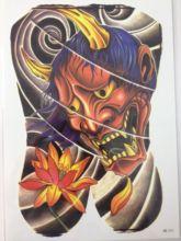 21 X 15 CM Monsters Temporary Tattoo Stickers Temporary Body Art Waterproof#161