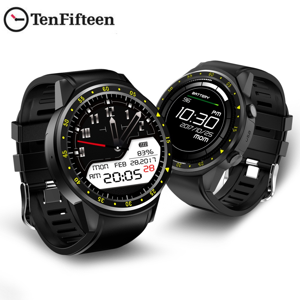 TenFifteen F1 Sports Smartwatch GPS Smart Watch Phone 2G MTK2503 Dual Bluetooth Beidou Camera Sleep Monitor Heart Rate SIM Card