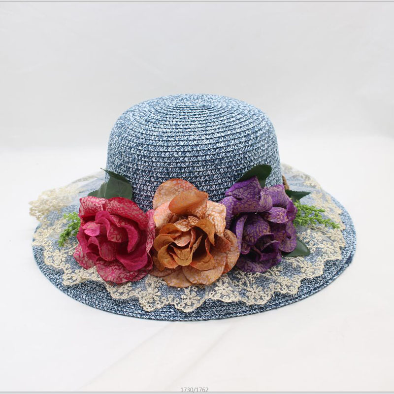 BING YUAN HAO XUAN 2018 Fashion Design Wide Brim Straw Hat Women Flower Foldable Brimmed Sun Hat Summer Hats For Women in Women 39 s Sun Hats from Apparel Accessories