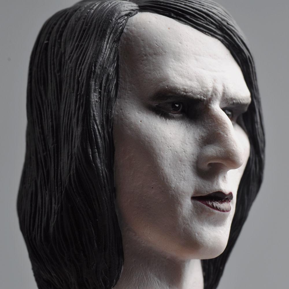 1//6 Male Head  HP-0063B Marilyn Manson Male Head Carving Model Fit 12/'/'Sculpt