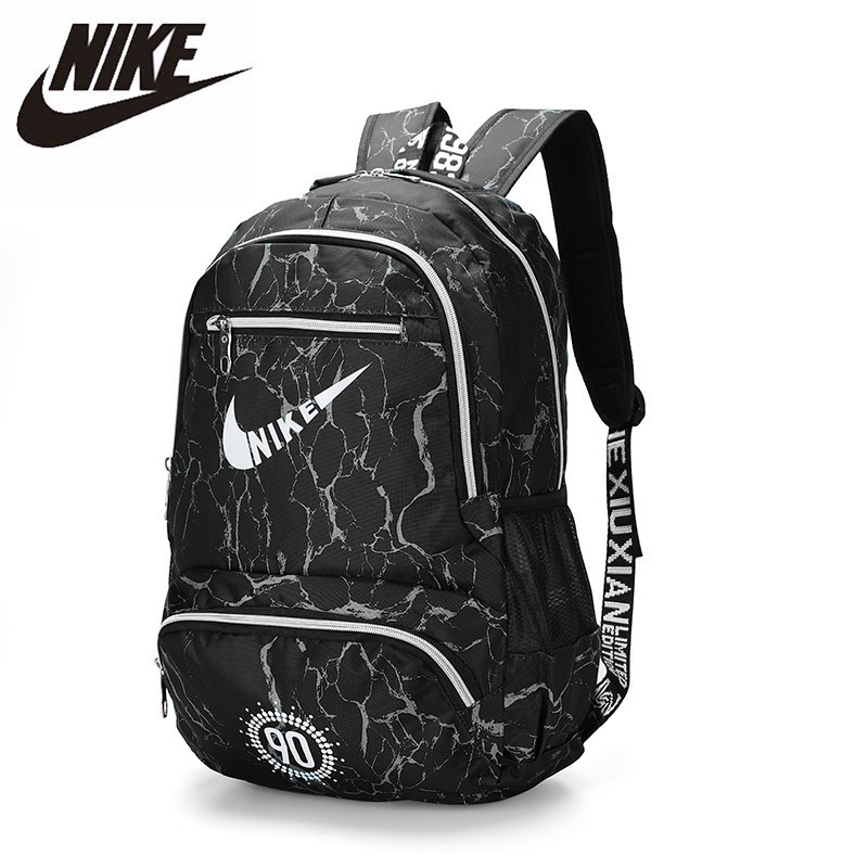 NIKE Canvas Backpack Large Capacity Breathable Gym Bag School Bag