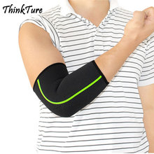 1 Pc Volleyball Elastic Black Elbow Pads Tapes Guard Support Brace Sports Safety Elbow Protector Absorb Sweat Breathable Bandage 1pcs elbow brace support sports safety elbow protector protection elastic bandage lengthen absorb sweat elbow pads guard zh997