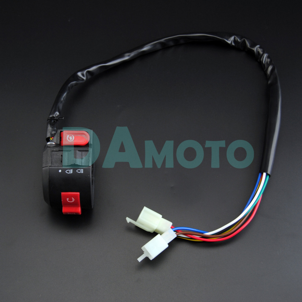 Electrics Wiring Harness Loom Quad Cluster Switch KEY SWITCH 50cc 70cc 90cc  110cc 125cc 140cc ATV Quad Bike Buggy Go Kart DAMOTO-in ATV Parts &  Accessories ...