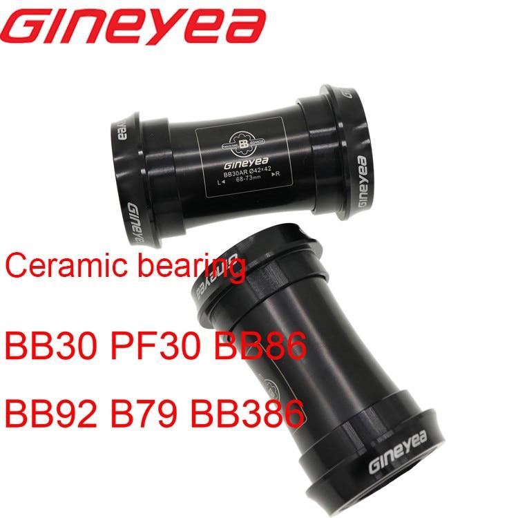 Gineyea Ceramic bearing Bottom bracket bike BB30 PF30 BB86 BB92 B79 BB386 for shimano for sram gxp press fit 24mm 22 19 mm 42 46