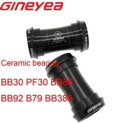 Gineyea łożyska ceramiczne suport rowerowy BB30 PF30 BB86 BB92 B79 BB386 dla shimano dla sram gxp naciśnij fit 24mm 22 19 mm 42 46 w Dolne wsporniki od Sport i rozrywka na