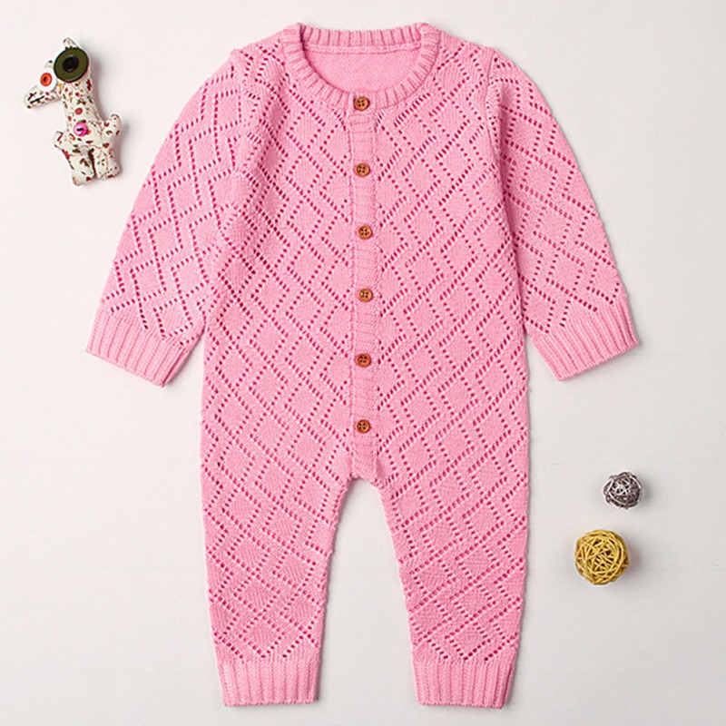 HTB1FC9kasrrK1RjSspaq6AREXXa8 2019 Newborn baby boy rompers Toddler Jumpsuit Girls Candy Color Knitted Baby Clothes Infant Boy Overall Children Outfit Spring