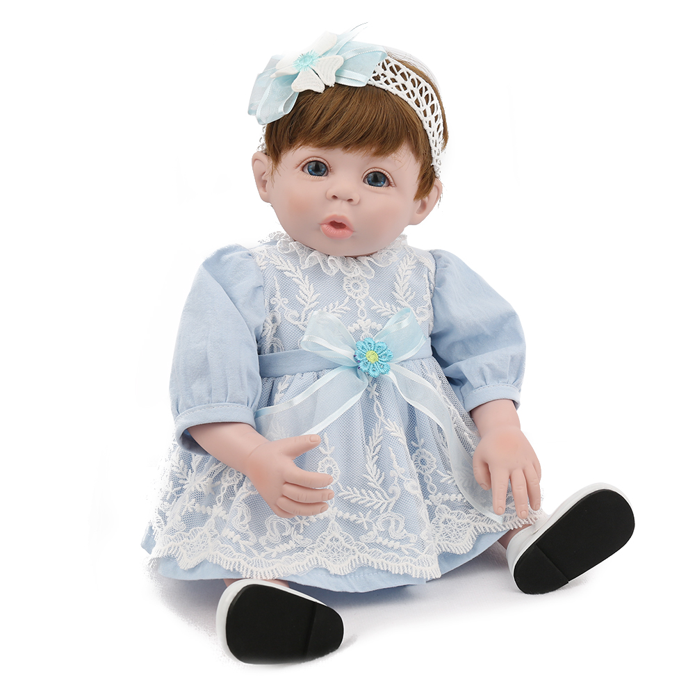 KAYDORA Reborn Baby Dolls Girl Toys for Girls Vinyl Reborn Dolls 19inch 48cm Like a New Born brinquedos menina boneca reborn
