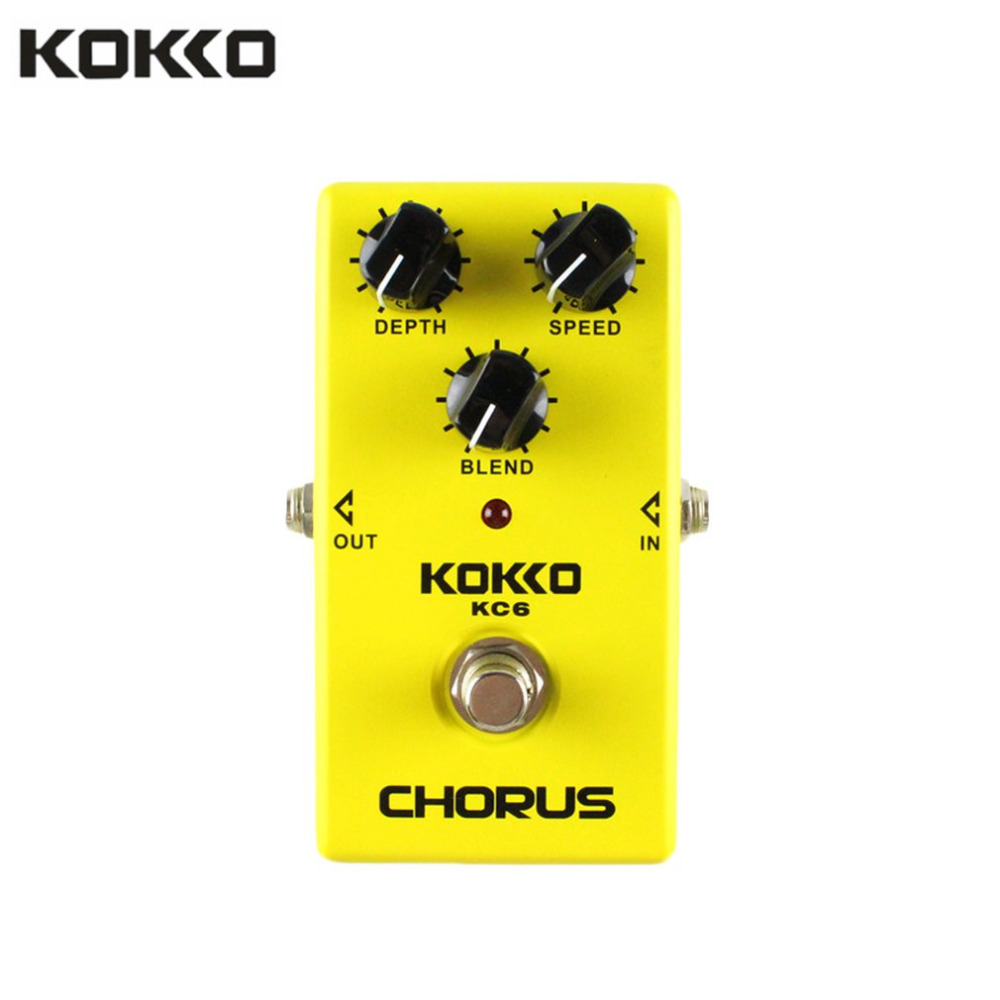 KOKKO KC06 Electric Bass Guitar Chorus Effect Pedal Low Noise BBD True Bypass Professional Guitar Pedal Effect Accessory aroma adr 3 dumbler amp simulator guitar effect pedal mini single pedals with true bypass aluminium alloy guitar accessories