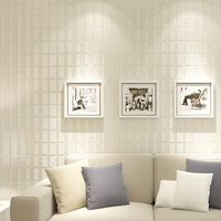 3D Embossed Mosaic Non Woven Fabric Wallpaper Wallcovering Modern Living Room Bedroom TV Background Striped Wallpaper