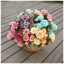Klonca Luxury Silk Flower 33cm 3pcs/lot Artificial Fake Rhododendron Wedding Home Decor Table
