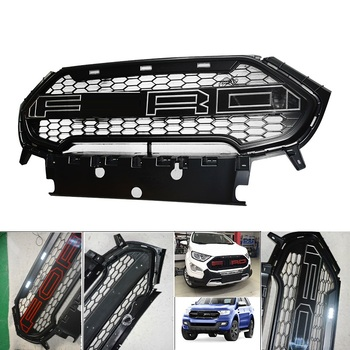 CITYCARAUTO FRONT RACING GRILLE GRILLS FRONT BUMPER MASK FIT FOR FORD ECOSPORT 2018 AUTO ACCESSORIES GRILL grille