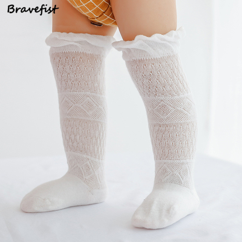 1 Pair Summer Girls Baby Thigh High Over Knee Socks 0-3Y Cotton Long Socks Children Cute ...