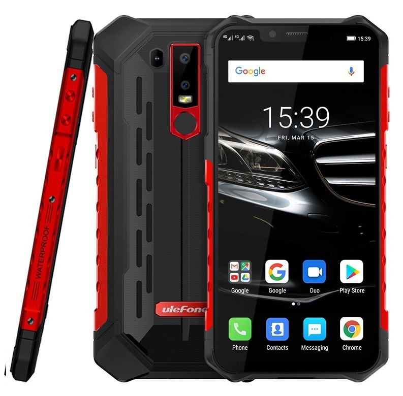 """Ulefone Armor 6E IP68 Rugged shockproof Mobile Phone Android 9.0 6.2"""" 4G+64G cell phone NFC phones Wireless Charge 4G Smartphone"""