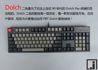 mechanical keyboard keys thick PBT black Dolch cherry mx OEM 104 keycap poker keyboard 60% side print pure caps game keyboard