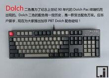 mechanical keyboard thick PBT black Dolch keycap cherry mx OEM keyboard 104 poker 61 keyboard 60% side print kbt pure
