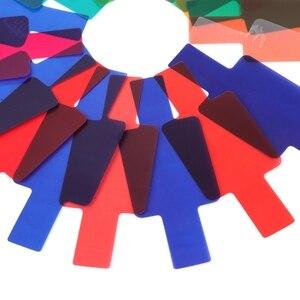 Image 5 - 20 cartões de filtro de gel de cor fotográfica conjunto flash speedlite para canon 10166