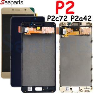 Image 4 - ディスプレイ P2 P2c72 P2a42 ディスプレイのタッチスクリーンデジタイザパネルアセンブリ用フレームの交換でレノボ P2 lcd ディスプレイ