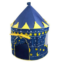 Child gift promotion cute children kids play tent game house large princess and prince castle palace baby toy tent yard space theme toy tent kids game house baby play tent child gifts castle children teepee kid tent