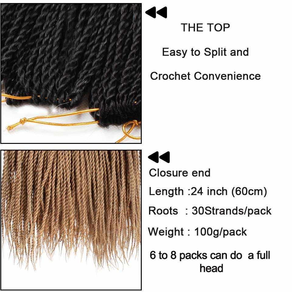 Xtrend Омбре Senegalese Twist волосы вязаный крючком ные косы 30 корней в упаковке синтетические волосы с прорезями 24 дюймов 10 упаковок