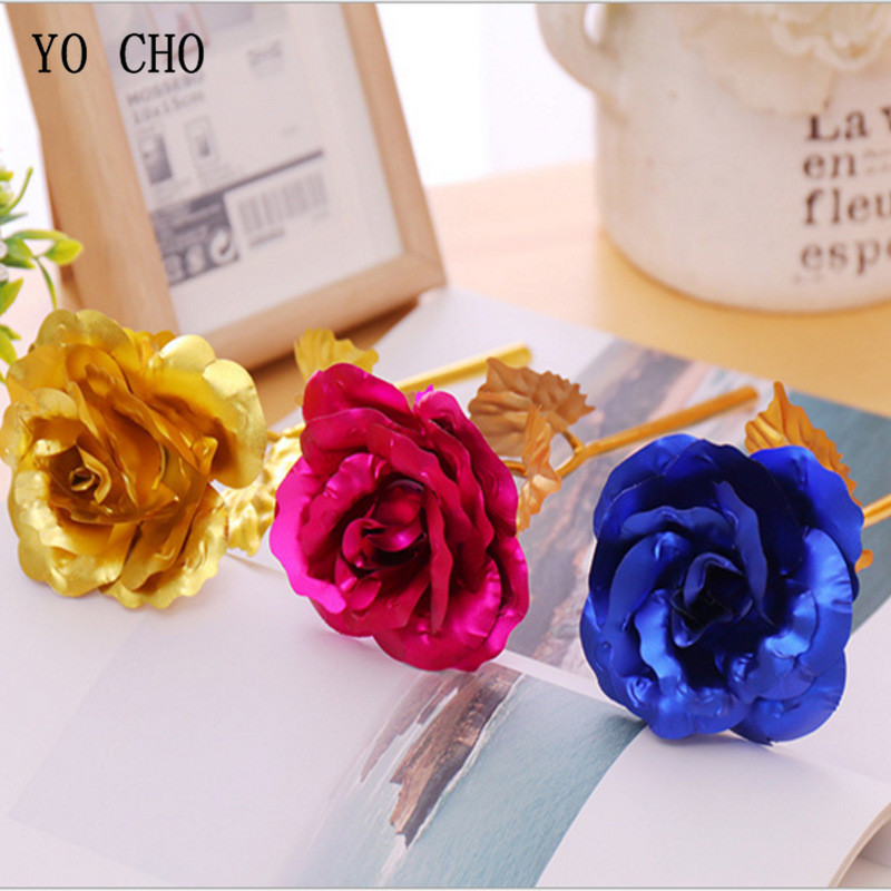 Best Gift For Girlfriend Golden Rose Wedding Decoration Golden ...