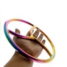 Regenbogen Shibari Ring Edelstahl Chasitity suspension Shibari Bondage & Seil Spielen SHIBARI SUSPENSION RING Heißer sex spielzeug