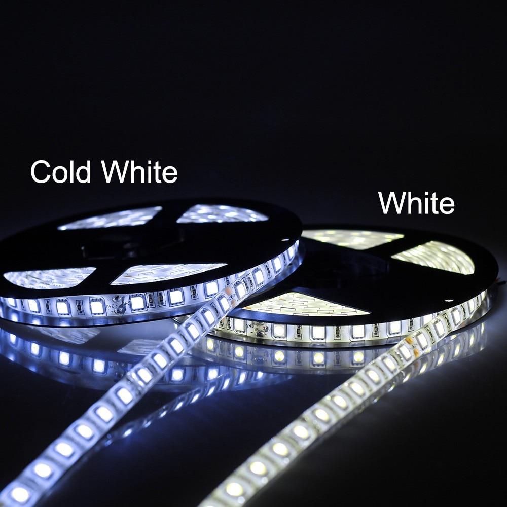 DC 24 В Светодиодные ленты 5050 60 Светодиодный s/m 5 м IP65 Водонепроницаемый светодиодный гибкая света 5050 RGB белый, теплый белый, холодный белый, rgb с...