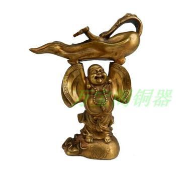 Bronze pure ginseng buddha gold bags lucky fortune