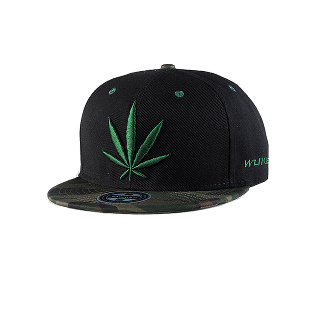 cf8ecea5c532e New Embroidery Maple Leaf Hip Hop Caps for Men Black White Baseball Caps  Weed Snapback Hats Polyester Women Caps