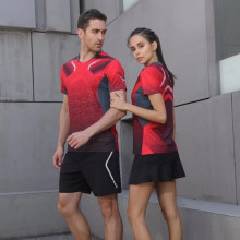 Men Sportswear Badminton Shirts Jerseys Volleyball Golf Table Tennis T-shirt Sports Clothes POLO T Shirts Quick Dry Breathable(China)