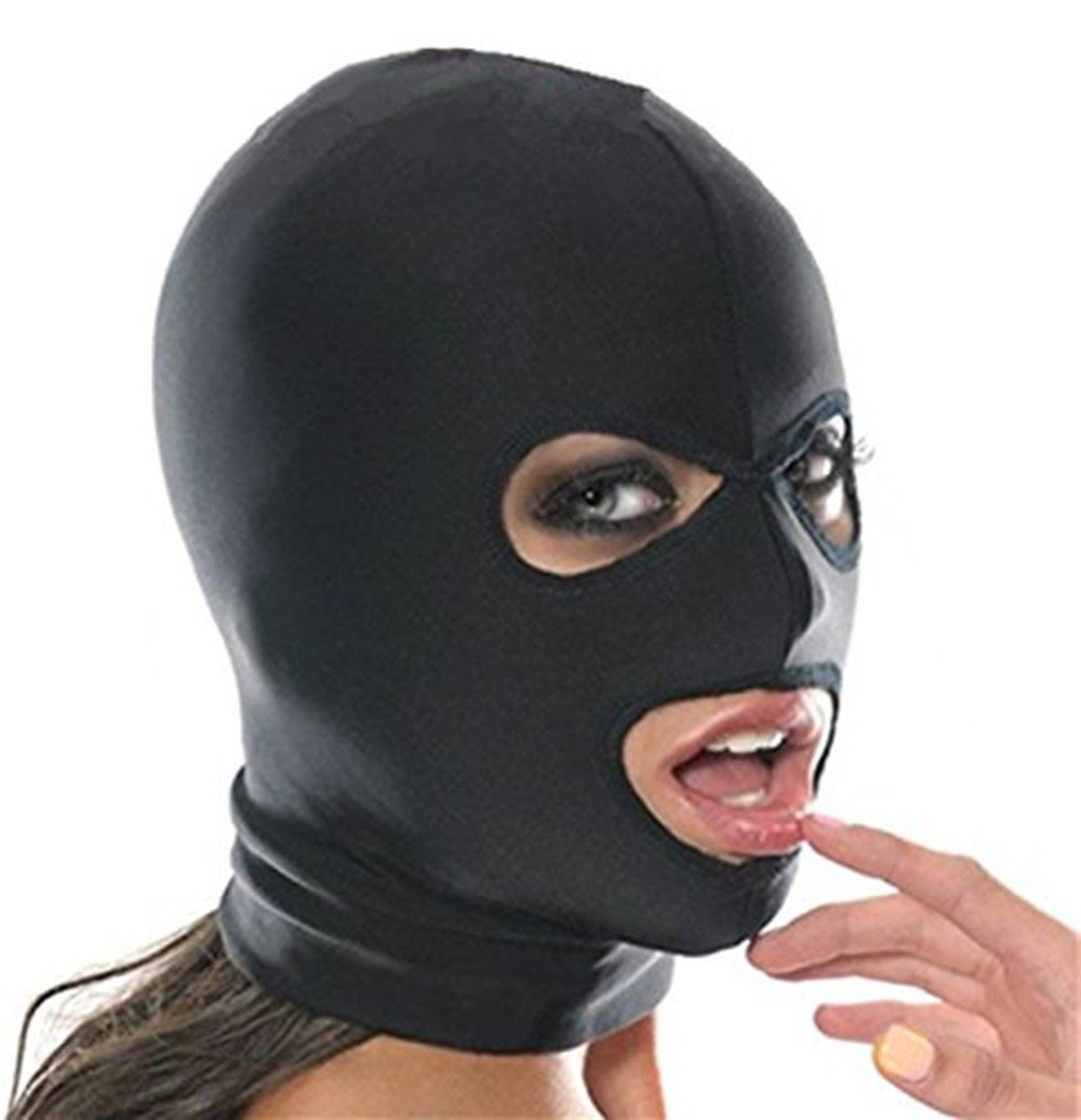 Sex Spandex Blindfold Face Full Mask Spandex Mouth Opening -2410