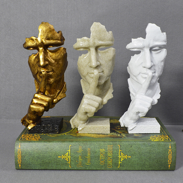 Creative Abstract Art, Resin Statues, Thinking Mediator