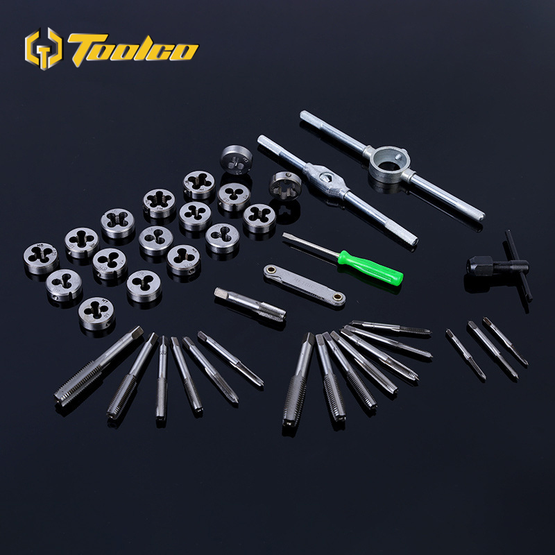 Toolgo 12 20 40pcs Tap and Die Set M3 M12 Screw Thread Metric Taps Wrench Dies Alloy Metal Wrench Screw Threading Hand Tools in Tap Die from Tools