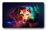 Custom Wolf In Galaxy Door Mat Art Design Pattern Printed Non-slip Carpet Floor Hall Bedroom Cool Pad Fashion Rug #103
