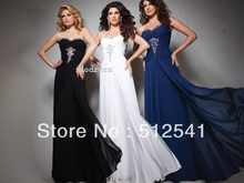 Brand Design Prom Dresses 2014 Best Selling Sweetheart Chiffon Sheath Column Rhinestone Ruffle yk-8A50