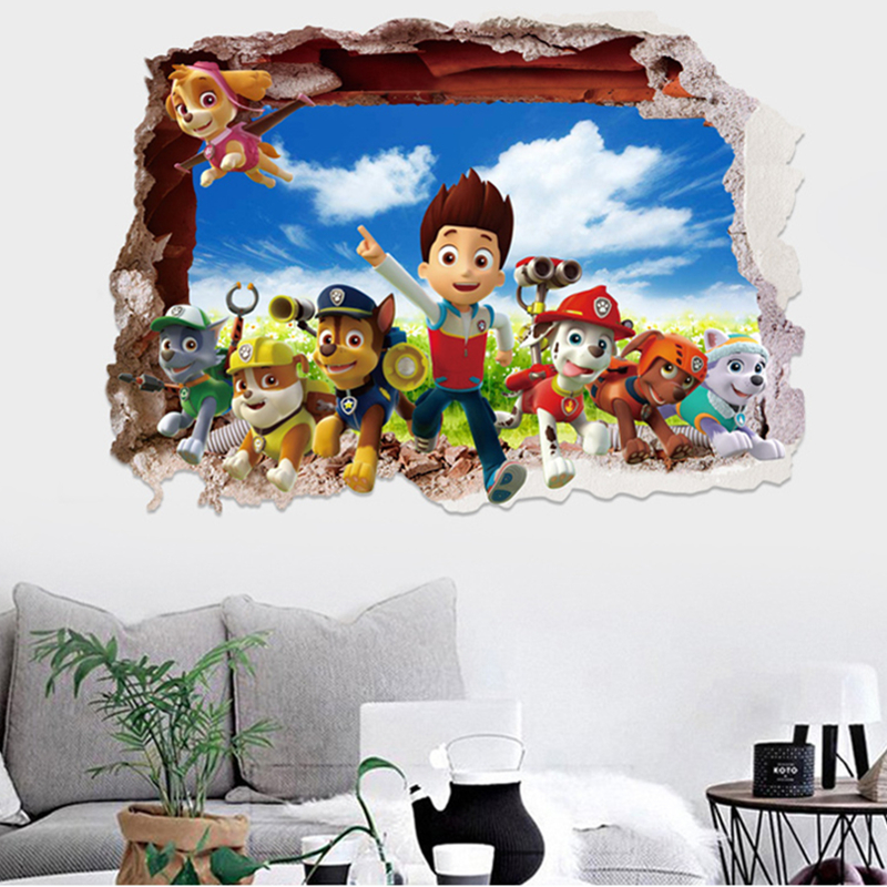 Popular room posters paw patrol buy cheap room posters paw for 3d home decoration games