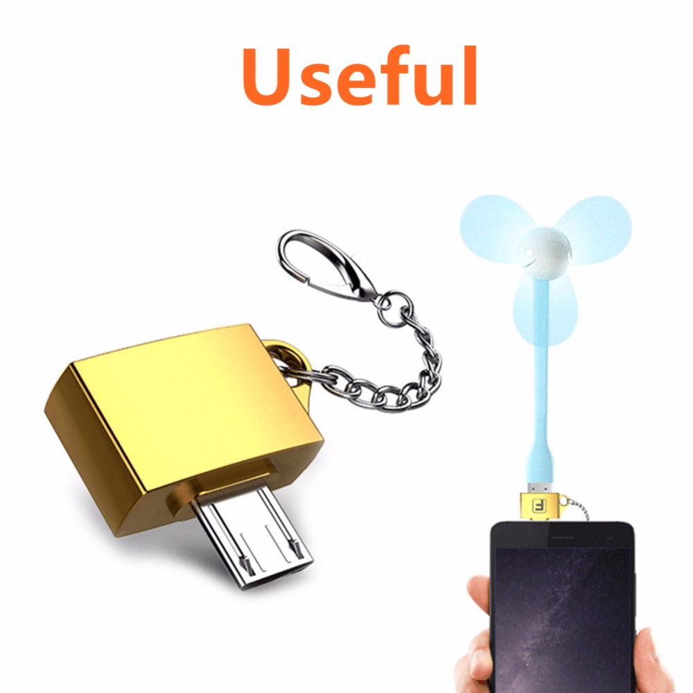 USB3.1 Type C Male To Micro USB /& USB2.0 Female Adapter Converter Key chain Ring